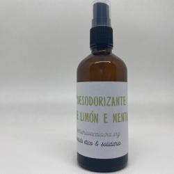 Desodorante limón y menta...
