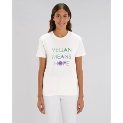 Camiseta recta Vegan means...