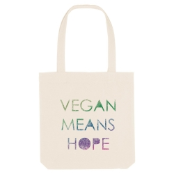 BOLSA VEGAN MEANS HOPE (POR...